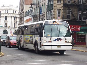 Broadway Bus Terminal - NJT bus in Downtown Paterson