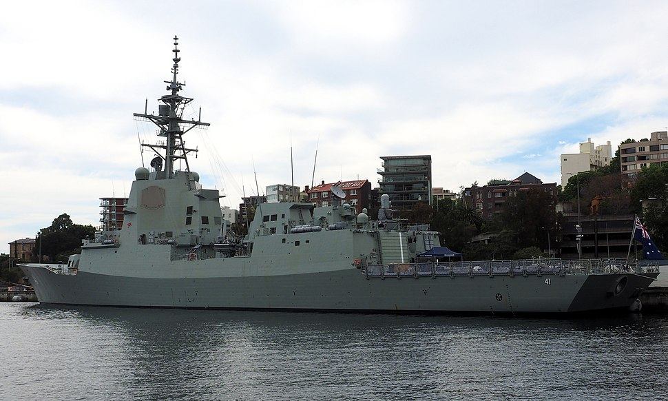 NUSHIP Brisbane in October 2018