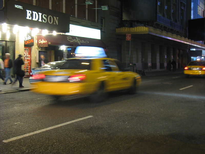 File:NYC Taxi in motion.jpg