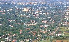 Vista aerea del CBD e Ngong Road