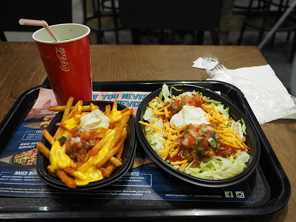 Naked Burrito Bowl at Taco Bell in Iso Omena