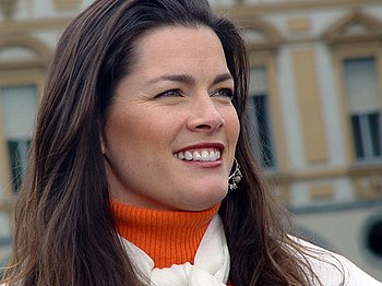 American Olympic figure skater Nancy Kerrigan,...