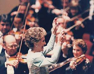 National Symphony Orchestra - First Lady Nancy Reagan conducts the National Symphony Orchestra, 1987
