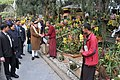 Narendra Modi visiting the orchid display and seasonal flowers exhibition, in Gangtok. The Governor of Sikkim, Shri Shriniwas Dadasaheb Patil, the Chief Minister of Sikkim, Shri Pawan Kumar Chamling.jpg