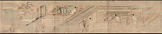 Narrative Picture Scroll about Love Romance of Courtier and Girl at Sumiyoshi