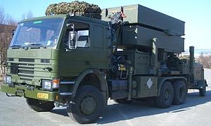 NASAMS - NASAMS launcher on a Scania 113H truck