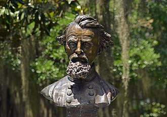 Old Live Oak Cemetery - Bust of Nathan Bedford Forrest in Old Live Oak Cemetery.