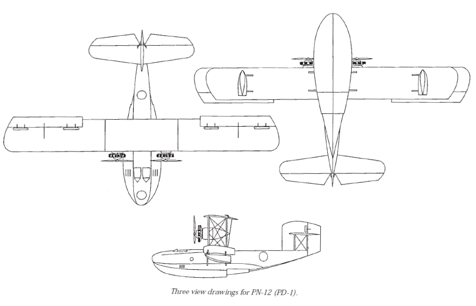 Naval Aircraft Factory PN-12 drawing