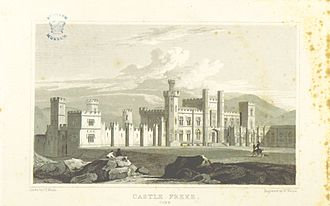 Baron Carbery - Castle Freke in 1818 (image extracted from page 270 of volume 6 of Views of the Seats of Noblemen and Gentlemen in England, Wales, Scotland and Ireland. L.P, by John Preston Neale.)