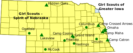 Girl Scout Councils in Nebraska