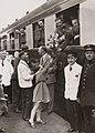 Nederlandse voetballers op weg naar WK 1934 - Dutch national team sets off for World Cup finals in 1934 (4681264405).jpg