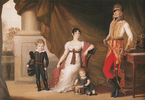 Greve Adam Albert von Neipperg, Marie Louises älskare, med sin första fru Theresia