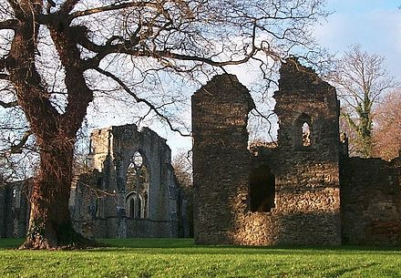 The abbot's two-storey vaulted house (right) at Netley Abbey was Steven' lodging in 1529-1536. Netleyabbotshouse.jpg