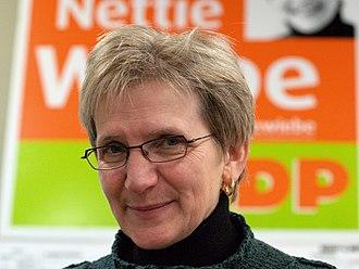 Nettie Wiebe - Nettie Wiebe, during her 2006 federal election campaign