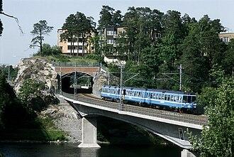 Stocksundet - The new railway bridge for the Roslagsbanan over Stocksundet.