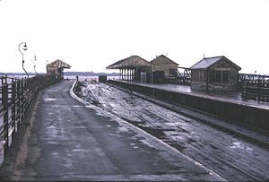 New Holland Pier railway station - The station on New Holland Pier in March 1981. The ferry service was due to cease operating on 24 June 1981 when the Humber Bridge opened.