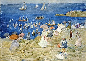 Edward Chalmers Leavitt - Image: New England Beach Scene Edward Chalmers Leavitt