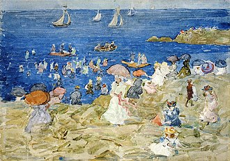 Edward Chalmers Leavitt - Image: New England Beach Scene Edward Chalmers Leavitt