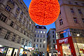 New Year decoartion of the streets of Vienna, Austria, Central Europe. January 6, 2014.jpg