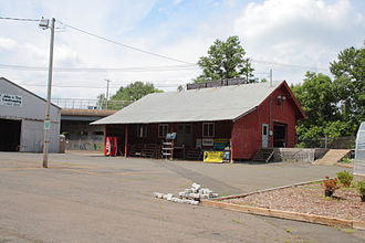 Newington Junction - The site of the Newington Junction Railroad Depot where the rail line crosses Willard Ave.