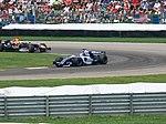 Nico Rosberg and David Coulthard 2006 Indianapolis.jpg