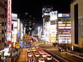 Night in Koshu Kaido, Shinjuku.jpg