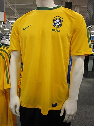 Star (football badge) - The first international team to add stars was Brazil. Their badge now features five stars.