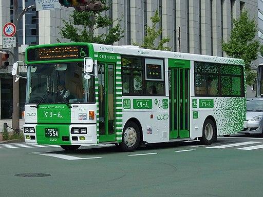 Nishitetsu bus green bus01