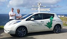 Nissan Leaf at lands End