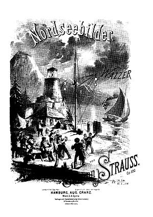 Nordseebilder - Cover of the piano score.  (Published by August Cranz)