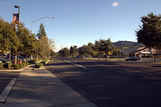 Alamo, California - Looking South into downtown Alamo