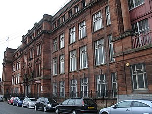 Springburn - Former headquarters of the North British Locomotive Company in Springburn was designed by James Miller and completed in 1909. From 1961 the building was the campus of North Glasgow College and was converted into an office complex in 2009.