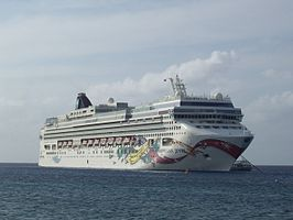 Het cruiseschip Norwegian Jewel
