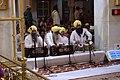 Nové Dillí, Gurudwara Bangla Sahib, bubeníci.jpg