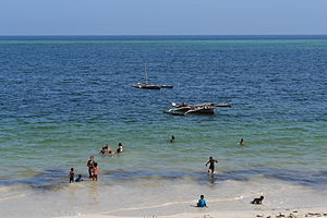 Nyali Beach from the Reef Hotel during high tide in Mombasa, Kenya 18.jpg