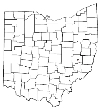 Old Washington, Ohio - Image: OH Map doton Old Washington