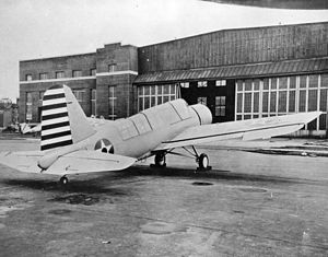 Vought OS2U Kingfisher - An OS2N-1 at the Naval Aircraft Factory, 1941.