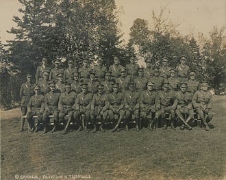 148th Battalion, CEF - Officers of the 148th Battalion in Canada, 1916