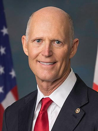 2018 United States Senate election in Florida - Image: Official Portrait of Senator Rick Scott (cropped)
