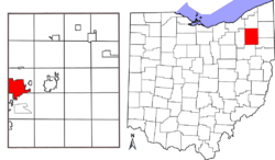 Location in Portage County