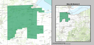 Ohio's 5th congressional district - since January 3, 2013.