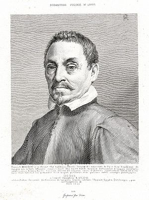 Franciscus a Mesgnien Meninski - A portrait of the author of 'Thesaurus Linguarum Orientalium' by Antoni Oleszczyński (1794-1879), Polish engraver.
