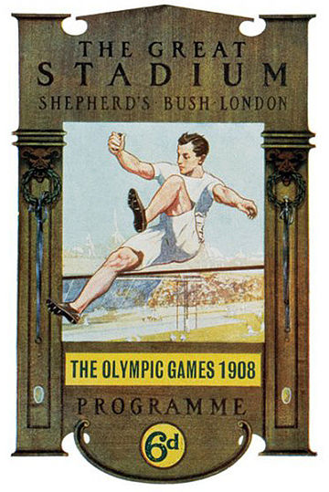 July: 1908 Summer Olympics. Olympic games 1908 London.jpg