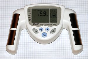 English: Omron BF306. Body fat monitor for the...