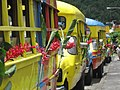 One dozen bedecked buses with flowers and ribbons awaiting the lucky tourists from the Amsterdam - panoramio.jpg