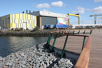 Titanic Quarter - View towards Titanic Studios
