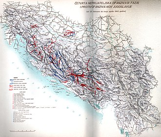 Case White - Second stage, German operations Weiss Mostar and Weiss 2, and Partisan drive over Neretva.
