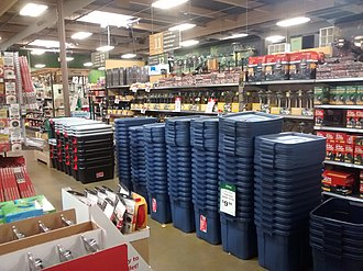 Orchard Supply Hardware - Interior of an Orchard Supply Hardware store in San Rafael, California as shown in 2016