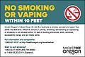 Oregon Indoor Clean Air Act - No Smoking or Vaping within 10 feet.jpg