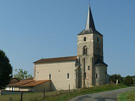 The church in Orgedeuil